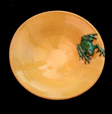 Yellow Frog Dish