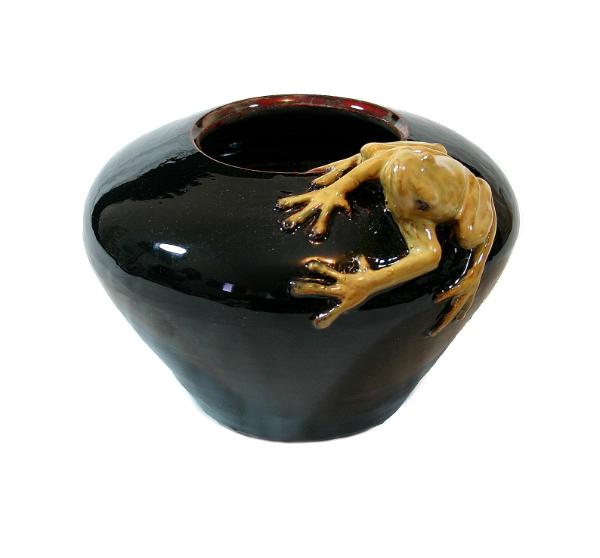 Yellow frog bowl